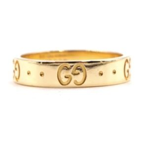18k Yellow Gold Gg Guccissima Logo